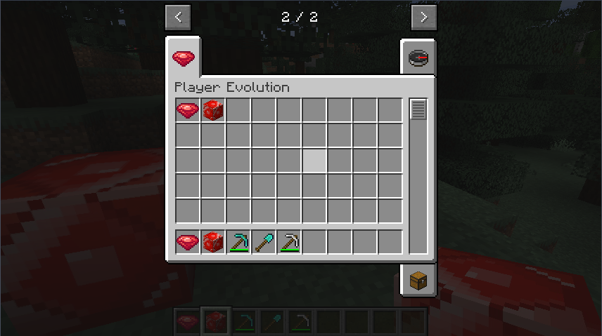 The end result with an inventory tab and a few items